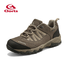Clorts hiking shoes for outdoors zapatos trekking climbing hiking sneakers breathable comfortable soft height increasing for men