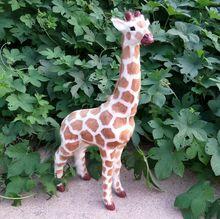 big simulation giraffe toy handicraft Polyethylene&fur giraffe doll gift about 56x29cm