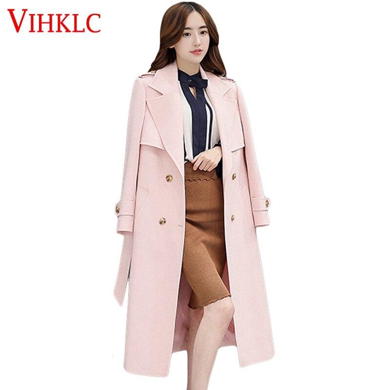 promo code 8dc38 78685 Nuova primavera rosa donna oversize trench e impermeabili ...