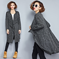 plus big size coats women spring autumn 2016 feminina  new long sleeve knit cardigan long coats female A2262