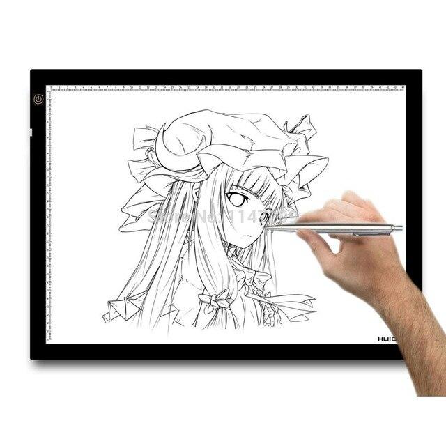 Huion A3 23.5 Polegada Tatoo Rastreamento Mesa de Luz LEVOU Caixa de Luz Inteligente Placa de Cópia Pintura Gráfico Desenho Tablets