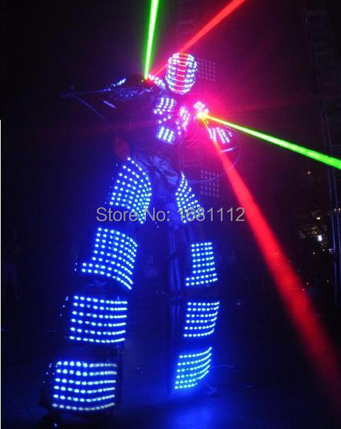 led robot kostým / LED oděvy obleky / LED kostým / led světla kostým