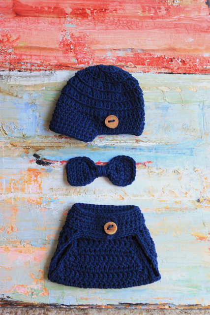 e2bd0b25b US $14.4 |Baby Boy Newsboy Set, Hat & Diaper Cover, Newborn Bow Tie,  Crochet Photo Prop, Crochet Newsboy Hat, Diaper Cover and Bowtie-in Hats &  Caps ...