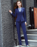 2019 Formal Elegant Women's Blazers Trouser Suits Ladies Black Blazer Women Business Suits Office Work Wear Pant and Jacket Set
