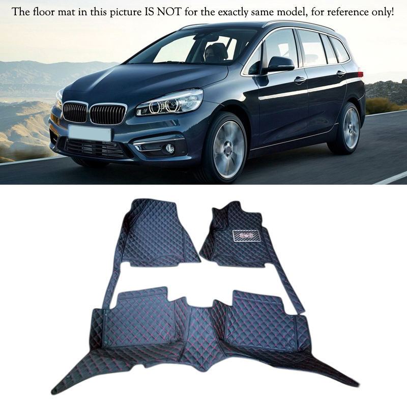 Interior Leather Floor Mats & Carpets 1set Left hand drive For BMW 2 -Series F45 Station Wagon 5 Seats 2013 2014 2015 2016 for opel zafira left drive firm pu leather wear resisting car floor mats black brown grey custom made waterproof carpets