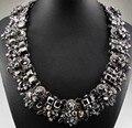 Lo nuevo Gorgeous Joyería de Moda Collar de cristal Declaración Departamento ra Collar Mujeres Gargantilla Negro Collares Colgantes