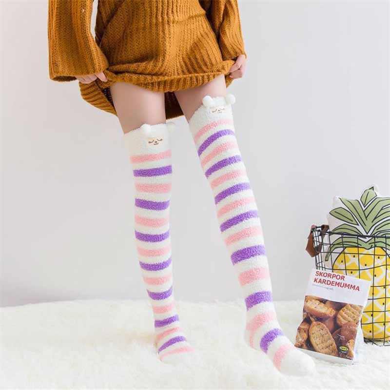 Зимние высококачественные Плотные хлопковые длинные носки женские выше колена в
