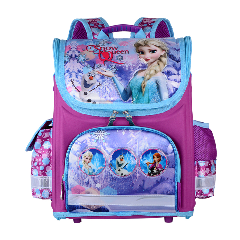 Girls Snow Queen School Bags Nylon Orthopedic Princess Elsa Backpacks For Primary Students Children Kids Sofia Schoolbags