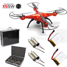 Free Shipping! Syma X5SW Quadcopter Drone WiFi FPV 2MP Cam+2 Batteries+4 Motors+1 Hard Case Box