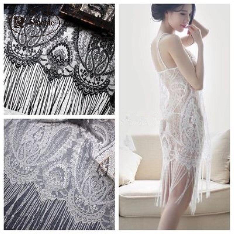 069c67c205 Eyelashes Lace Trim High Quality Tassel Lace Fabric Handmade DIY Wedding  Accessories 150cm*130cm RS1336