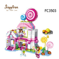 FGHGH Friends Lollipop House Action Figures Building Block Brick DIY Toys Compatible LegoINGlys for Girls Kids Christmas Gifts