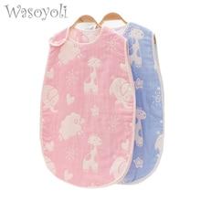 Children Sleeping Bag 45*80cm 6 Layers Muslin Cotton 3 to 6 Years Toddler Baby Sleepers Girls Boys Sleepwear Children's Clothing