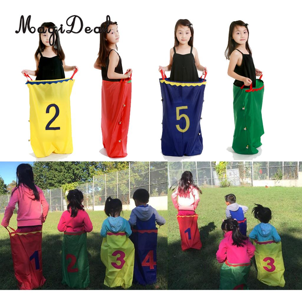 MagiDeal 50x70cm Jumping Sack Toy Racing Bag Balance Training Tool Outdoor Sports for Competition Games Family Racing Game
