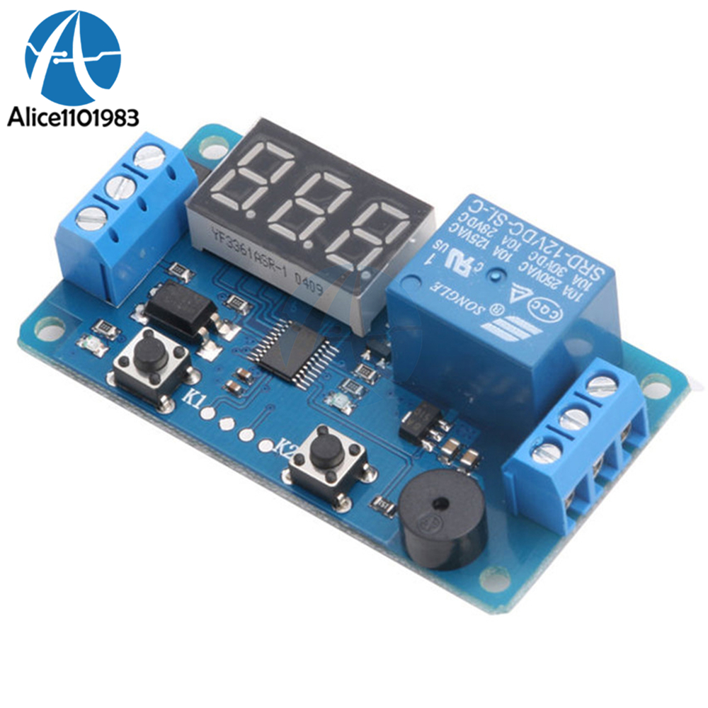 Digital LED DC 12V Motor Reversible Programmable Delay Cycle Relay Module PLC