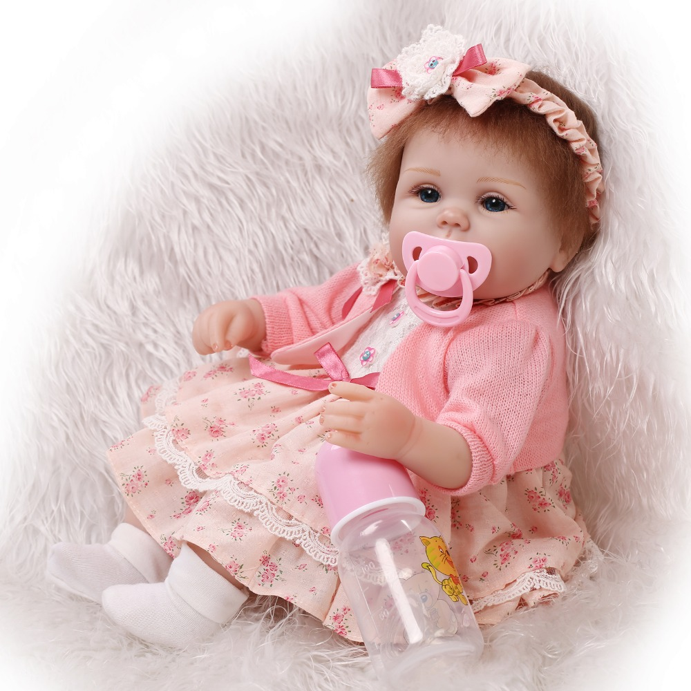 Newborn Baby Girl Toys : ₪handmade inch 【ᗑ】 baby girl dolls reborn silicone