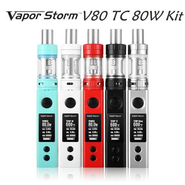Original Vapor Storm V80 TC 80W Box Mod Sub Ohm Temperature Control,OLED Display Electronic Hookah RDA Electronic Cigarette 80W