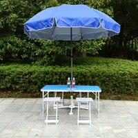 Регулируемая по высоте уличная мебель наборы 1 стол 4 стулья складной стол портативный Кемпинг Пикник складной AL Сверхлегкий столы
