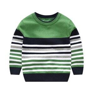 Image 2 - 2 7Y תינוק ילד ילדה סוודר בני סוודרים 2020 אביב סתיו ילדים סוודרים לילדים סוודר סרוג פסים למעלה ילד בגדים