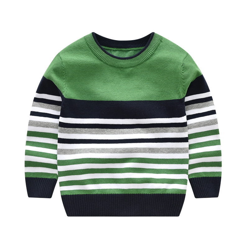 Image 2 - baby boy girl sweater boys sweaters 2019 spring autumn kids sweaters children striped pullover boy girl knitted top kid clothes-in Sweaters from Mother & Kids
