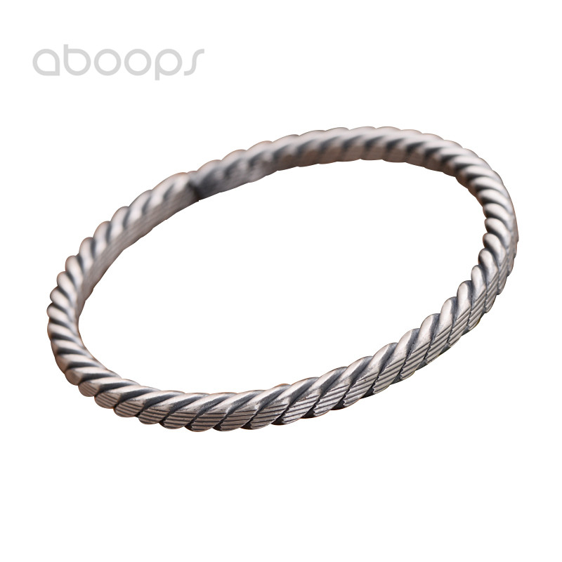 Limited Quantity Latest 999 Sterling Silver Twisted Rope Open Bangle for Women Girls Adjustable Free Shipping michael p amos macroeconomic policy analysis open economies with quantity constraints
