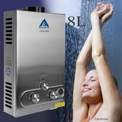 2019 أفضل البروبان Lpg سخان مياه حار مبيعات الوقت محدودة 12l Lpg ل ثرموستاتي Tankless الفورية حمام المرجل دش رئيس