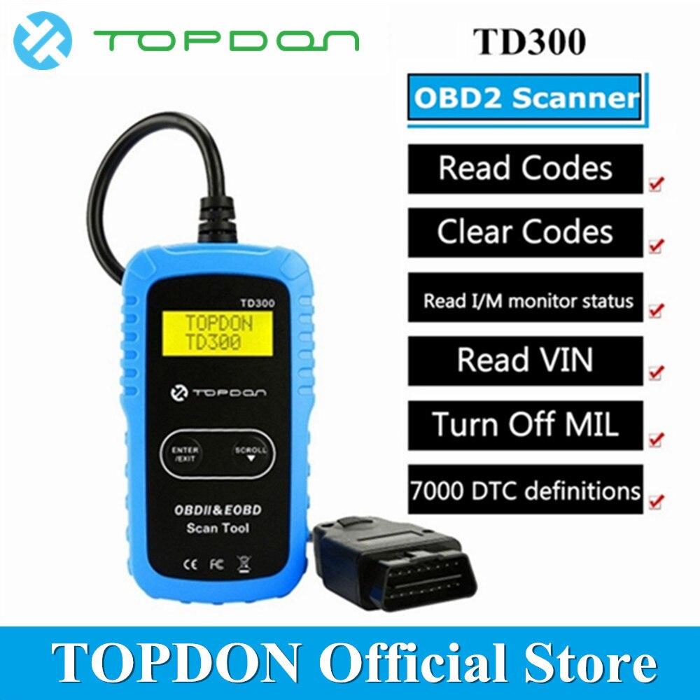TOPDON TD300 OBD2 Scanner Code Reader Scan Tool Read Clear