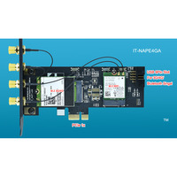 IdeaTrust IT-NAPE4GA NGFF M 2 M2 Key B and key A to PCIe 1x X1 Adpater  3G/4G and WiFi Card Adpater PCI-E For desktop