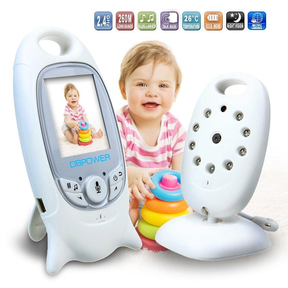 Baby Monitor Two Way Talk Night Vision Camera 260m Long Range Built-In Lullabies