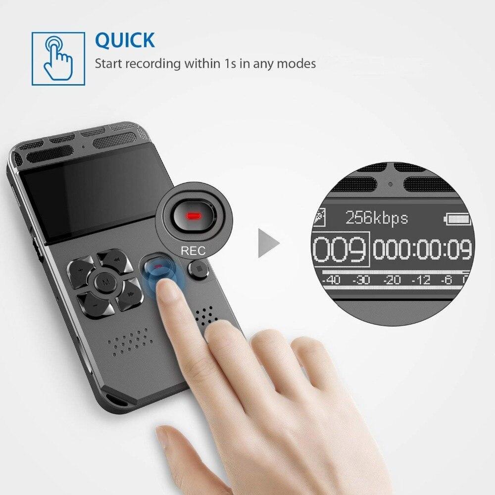 8 GB enregistreur vocal USB professionnel 72 heures Dictaphone enregistrement Audio numérique avec lecteur MP3 WAV pour conférences réunions - 3