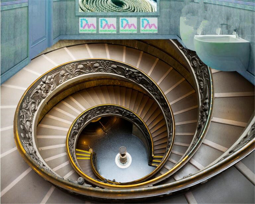 Us 17 7 41 Off Beibehang Development Ofany Size Wallpaper Painting Rotary Stairs 3d Flooring Outdoor Stereo Painting Backdrop Papel De Parede In