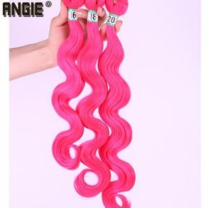 Image 2 - 16 18 20 นิ้ว Body Wave ผมสาน 3 ชุดเดียวสี Double Weft Hair Extension