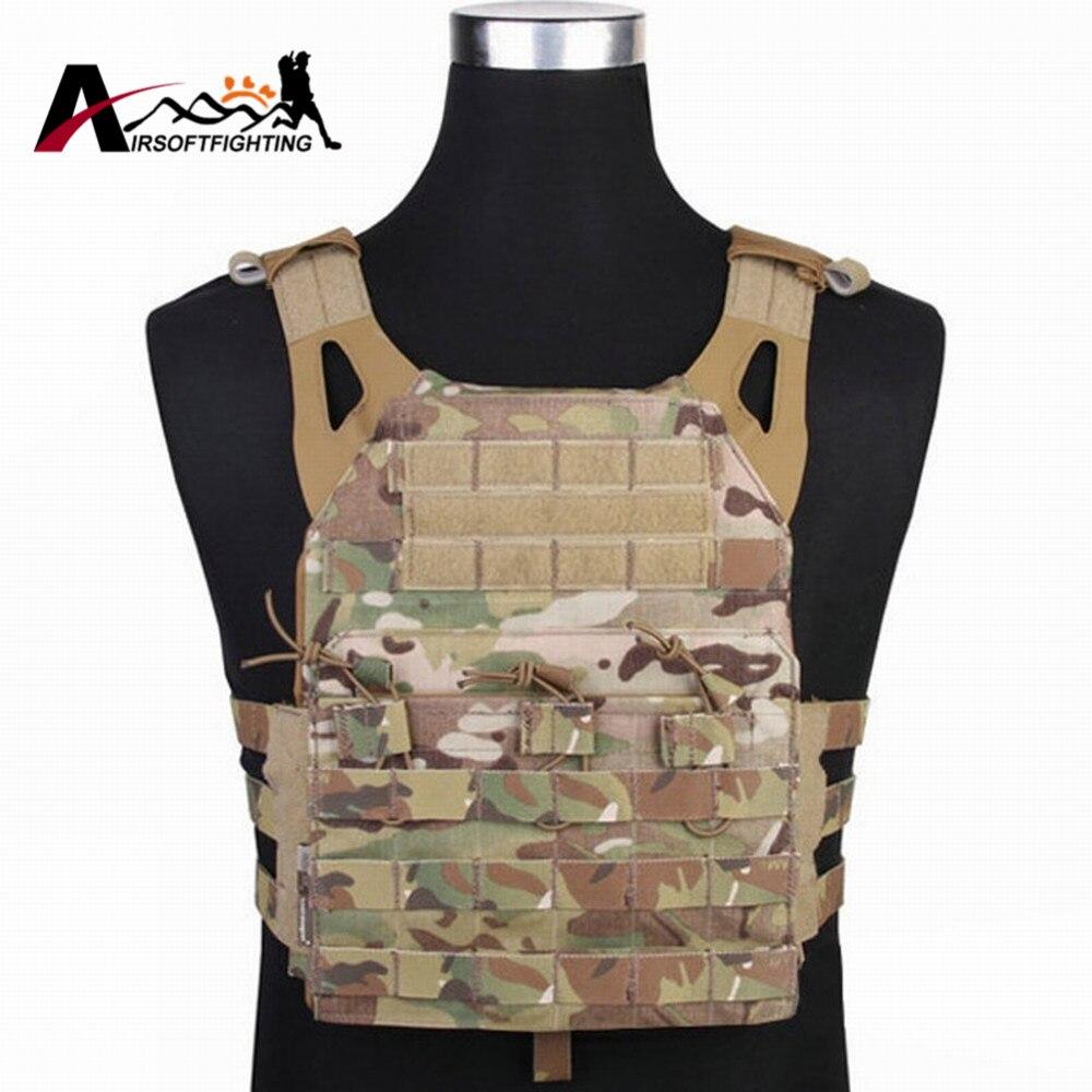 Emerson 500D Molle JPC Tactical Vest Simplified Version Military Paintball Hunting Vest Chest Protective Plate Carrier Vest стоимость
