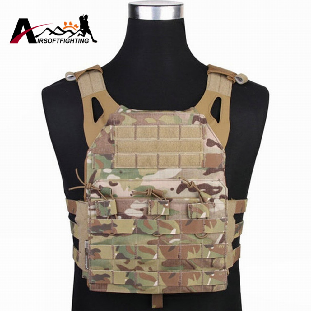 ФОТО Emerson Tactical 500D Molle JPC Simplified Version Vest Military Paintball Hunting Vest Chest Protective Plate Carrier Vest