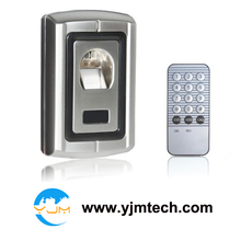 Free shipping via DHL Express Metal Case Waterproof Fingerprint Door Lock Access Control Controller+ Remote Control