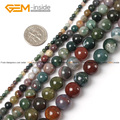 Natural Round Indian Agate Stone Beads For Jewelry Making DIY Jewellery 15inches Free Shipping Wholesale Gem-inside
