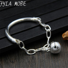 OL Style 12mm Silver Ball Fashion Charm Bracelets & Bangles 925 Thai Silver 4mm Width Tube Bracelet Jewelry Gift For Women 10G