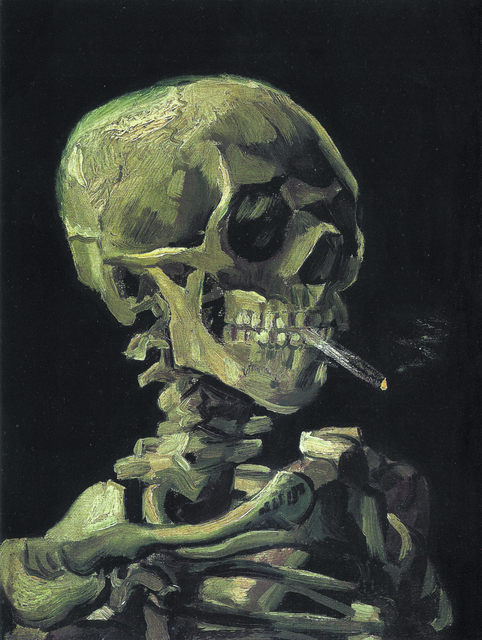 eb0c803b959 Unframed Canvas Prints - Head Of A Skeleton With A Burning Cigarette -  Vincent van Gogh