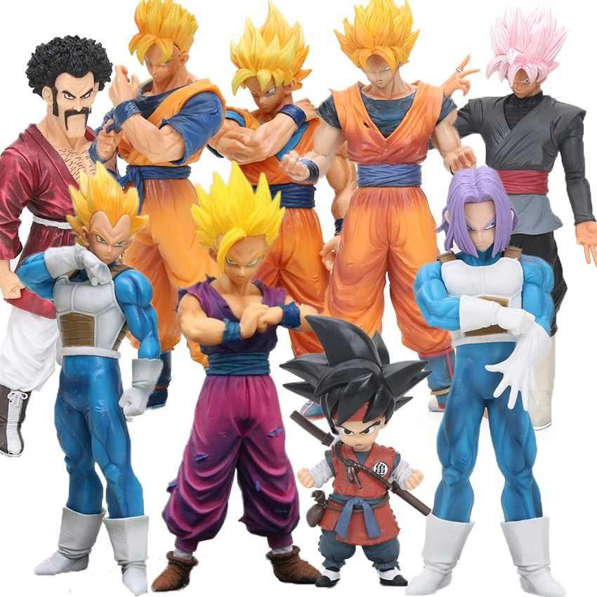 14-32cm Resolution Of Soldiers Future Gohan Son Goku Vegeta Trunks PVC Action Figure Hercule Mark Satan ROS Dragon Ball Z Toys