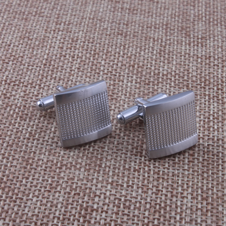 Unique design Mens Business T Shirt Copper cufflink silver plated free shipping