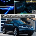 For Nissan Murano Z51 interior Ambient Light Tuning Atmosphere Fiber Optic Band Lights Inside Door Panel illumination Refit