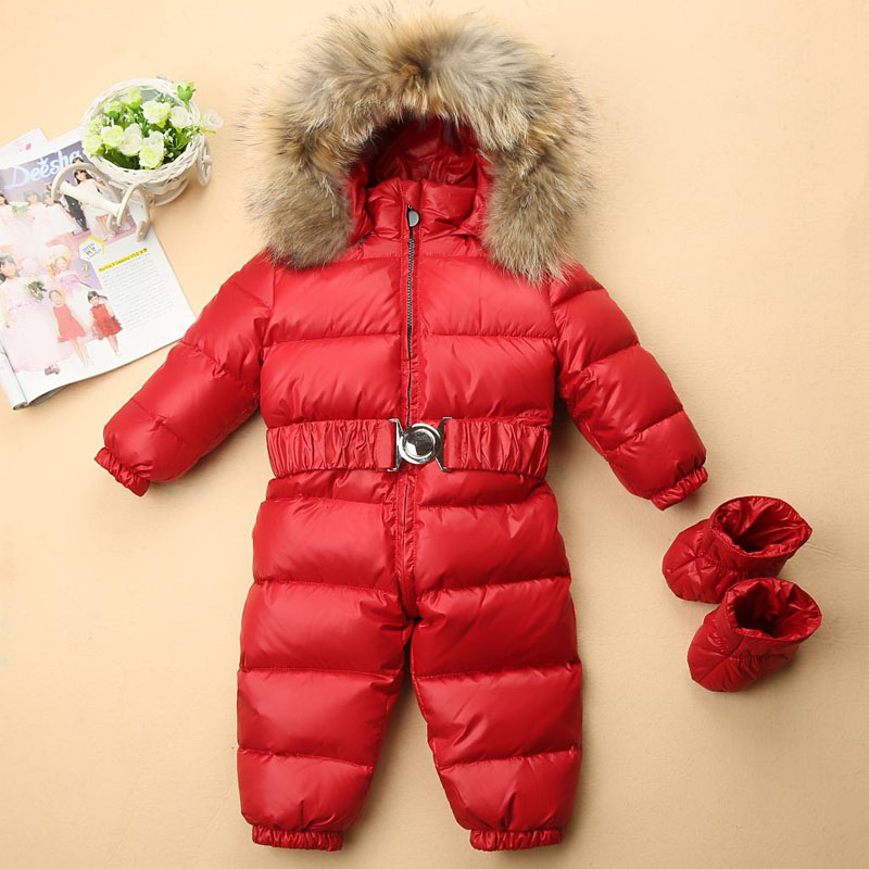 7fcb64849 Winter 1 to 5 years kid romper clothes baby girls boys snowsuit ...