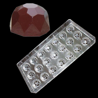 3 D Home Making Clear Polycarbonate Pastry Toosl Diamond Shape Chocolate Mold DIY Handmade Chocolate PC