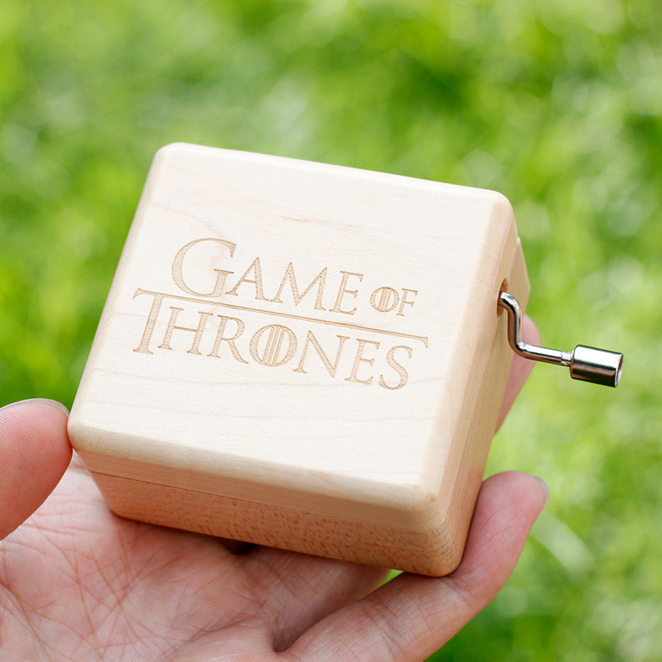 Two TypesHarry Potter Game Of Thrones Music Box Antique Wood Carvings For Children Christmas Gifts