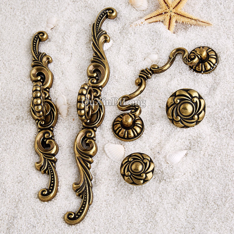 Retro Vintage 10PCS European Antique Kitchen Door Furniture Handles Cupboard Drawer Wardrobe Wine Cabinet Pulls Handles & Knobs new black kitchen water tap pull down kitchen mixer sink faucet pull out taps for sink taps hot and cold kitchen faucets mj907