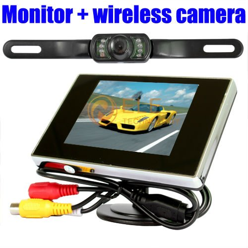 3.5 car Monitor + car reverse wireless camera monitor