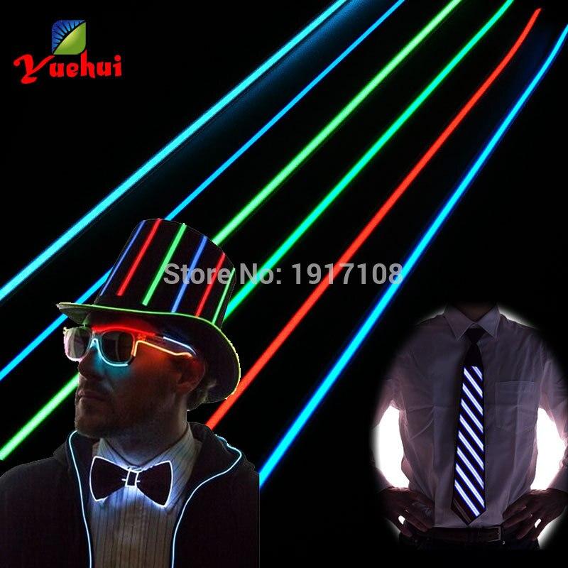 Vruće prodaja 8 boja 1.4X60CM EL vrpca EL žice EL traka za auto, - Za blagdane i zabave - Foto 5