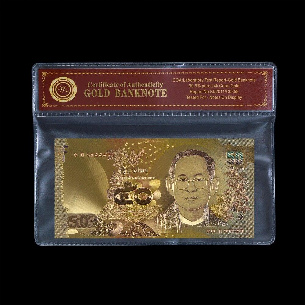 WRของขวัญส่งเสริมการขายทองธนบัตรประเทศไทย1000บาทขายร้อนของที่ระลึกธนบัตรเงินเก็บขนาดเดิม