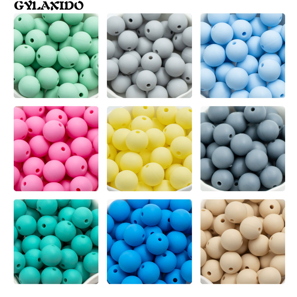 30Pcs Silicone Beads 12mm Round Perle Silicone Dentition Baby Teething Beads For Jewelry Making Baby Products Siliconen Kralen