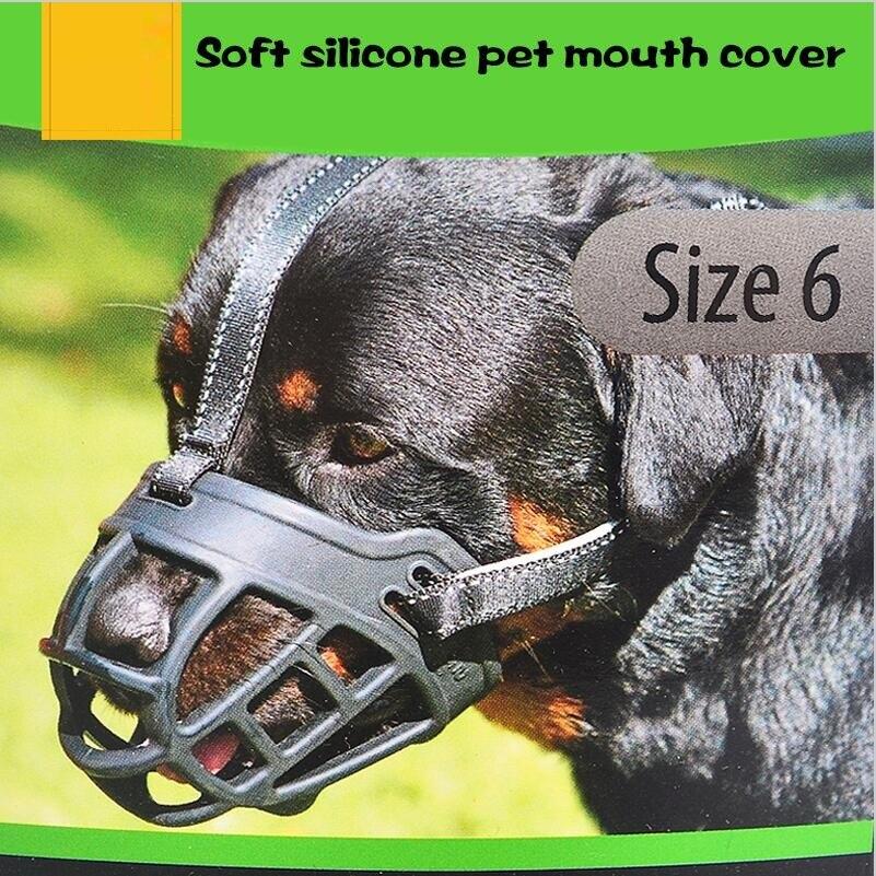 Soft Silicone Strong Dog Muzzle Basket Design Anti-biting Adjusting Straps Mask dog muzzles for small Medium large dog