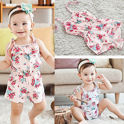 1266ff682 Baby Clothing Bodysuits Baby Girl Floral One piece Clothes Baby ...